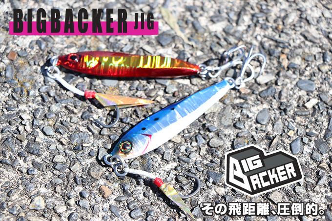 5426 Jackall Metal Jig Big Backer 30 grams Iwashi Glow
