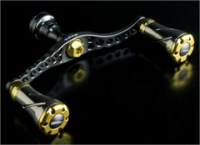 KNUCKLE ARM SPINNING -DOUBLE HANDLE 95 | GUNMETAL PLATE X GOLD KNOB