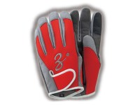 ZENAQ 3-D SHORT GLOVE | RED M